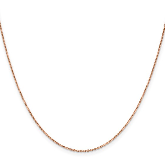 14k Rose Gold 1.4 mm Diamond-cut Cable Chain Necklace - 18 in.