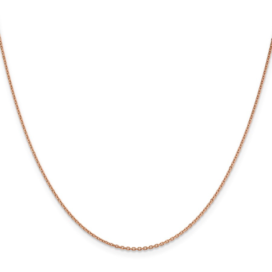14k Rose Gold 1.4 mm Diamond-cut Cable Chain Necklace - 20 in.