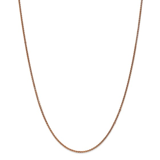 14k Rose Gold 1.40 mm Spiga Chain Necklace - 18 in.