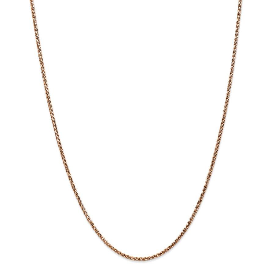 14k Rose Gold 1.8 mm Solid Diamond Cut Spiga Chain - 30 in.