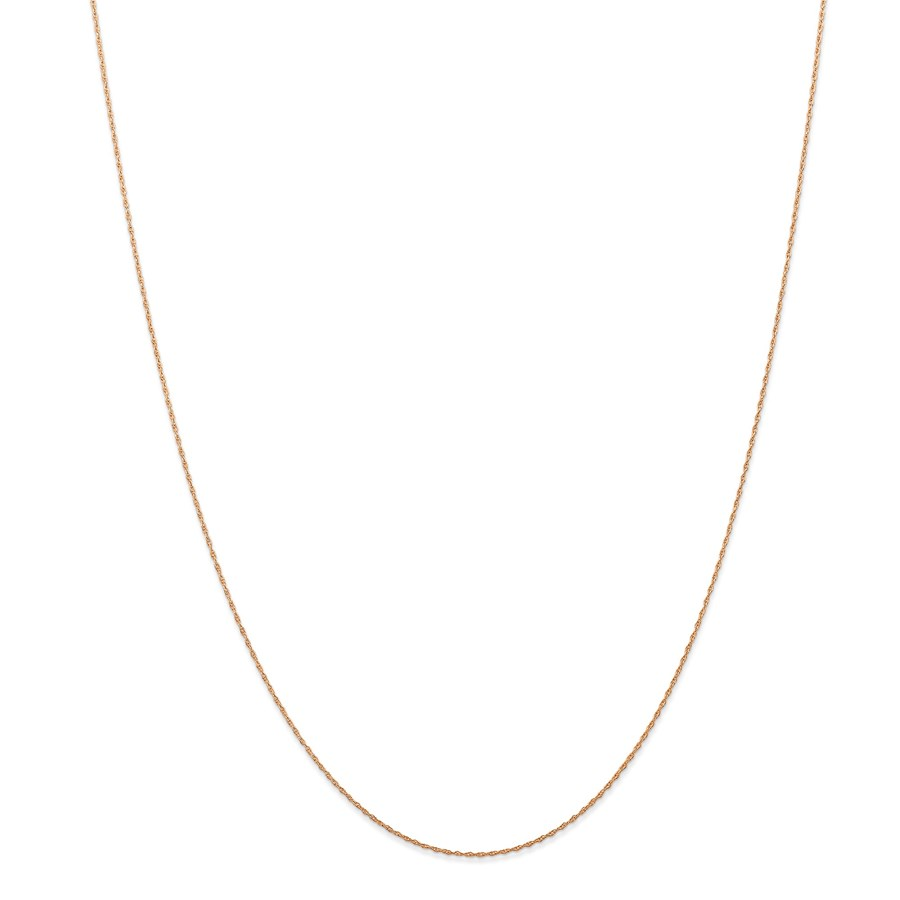 14k Rose Gold .5 mm Cable Rope Chain - 18 in.