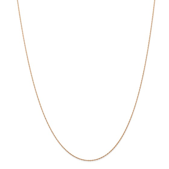 14k Rose Gold .5 mm Cable Rope Chain - 20 in.