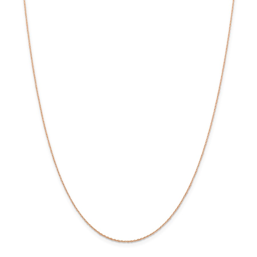 14k Rose Gold .5 mm Cable Rope Chain Necklace - 18 in.