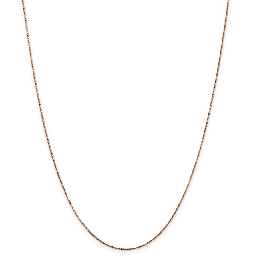 14k Rose Gold .65 mm Spiga Chain Necklace - 18 in.