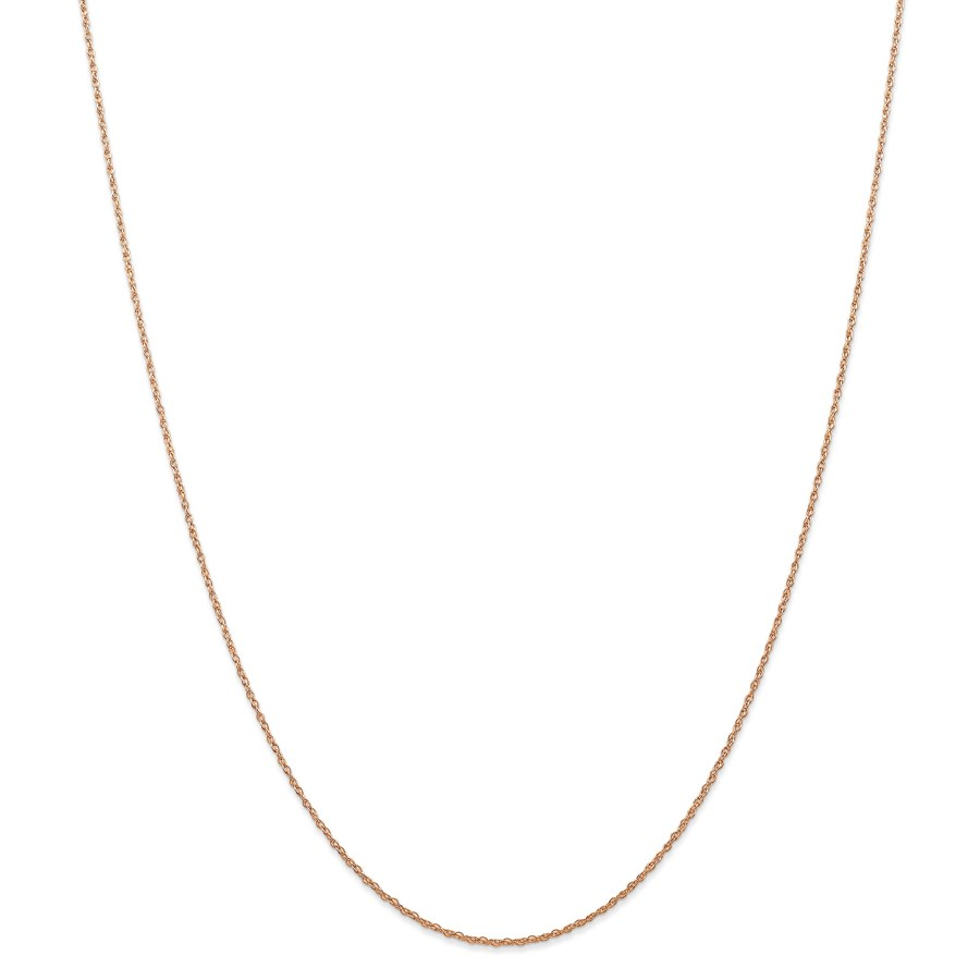 14k Rose Gold .7 mm Carded Cable Rope Chain Necklace - 16 in.