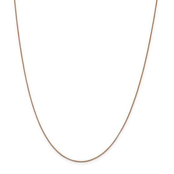 14k Rose Gold .70 mm Box Link Chain Necklace - 20 in.