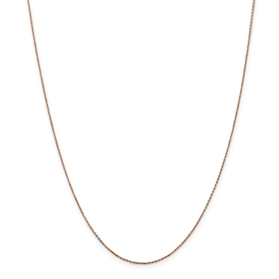 14k Rose Gold .8 mm Diamond Cut Cable Chain - 30 in.