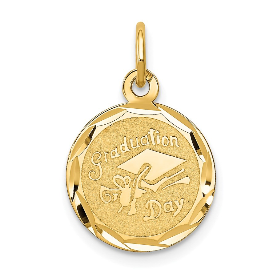 14k Solid Gold Graduation Cap Charm - 1223A