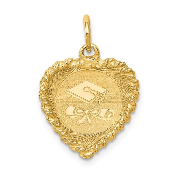 14k Solid Gold Graduation Cap Charm - 1225A