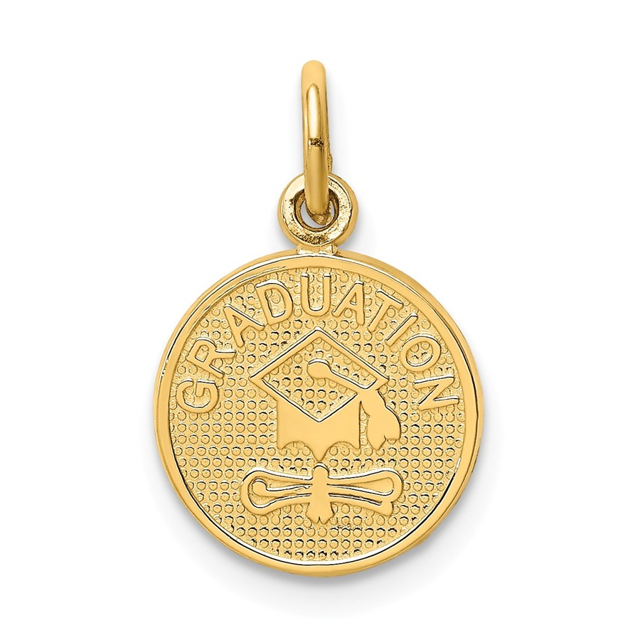 14k Solid Gold Graduation Charm - 1226A