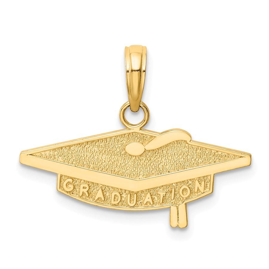 14k Solid Gold Graduation Charm - 1227A