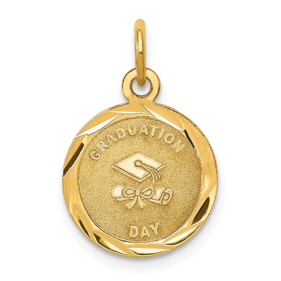14k Solid Gold Graduation Day Charm - 1228A
