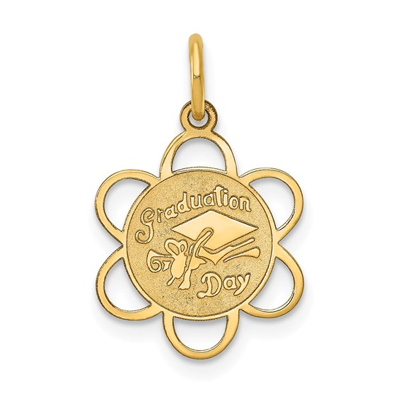 14k Solid Gold Graduation Day Charm - 1229A