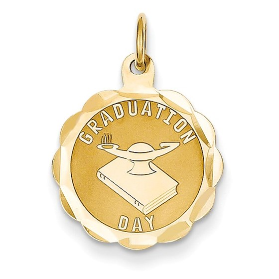14k Solid Gold Graduation Day Charm - 1231A