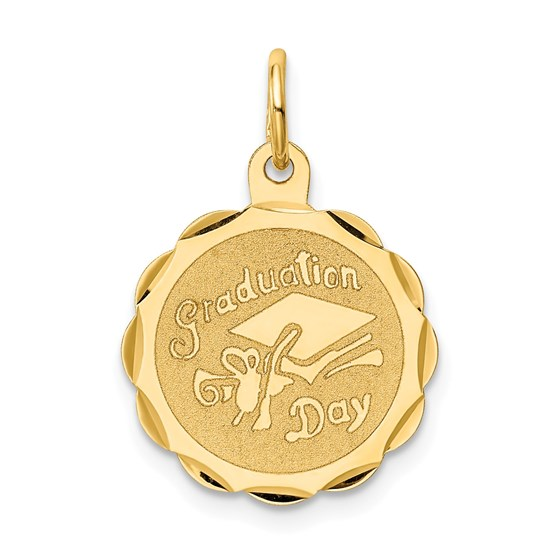 14k Solid Gold Graduation Day Charm - 1232A