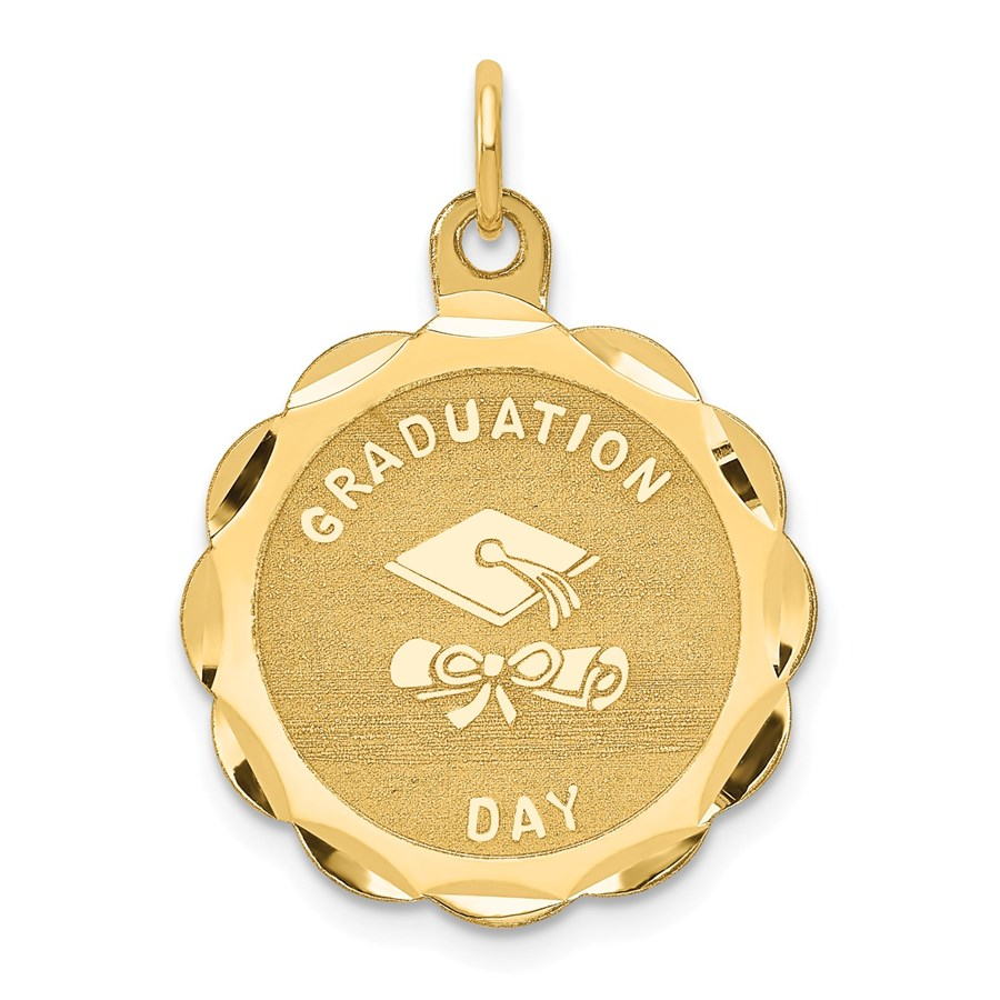 14k Solid Gold Graduation Day Charm - 1233A