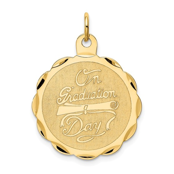 14k Solid Gold Graduation Day with Diploma Charm - 1234A