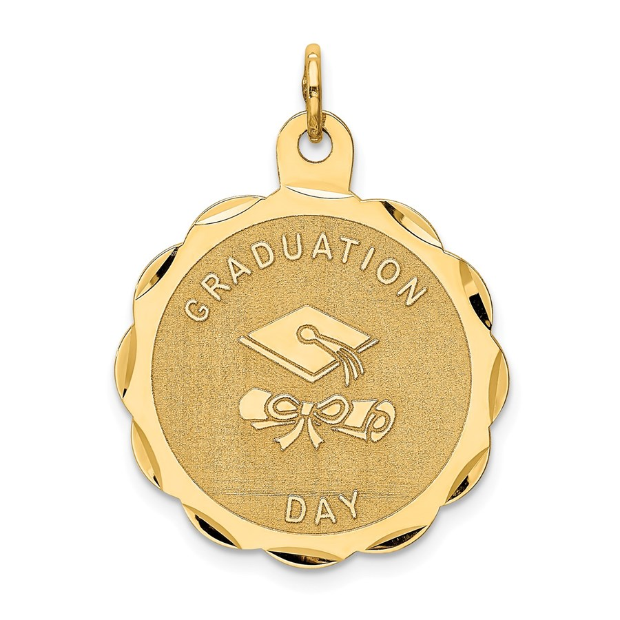 14k Solid Gold Graduation Day with Diploma Charm - 1235A