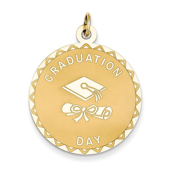 14k Solid Gold Graduation Day with Diploma Charm - 1236A