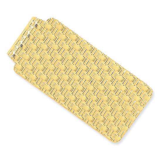 14k Solid Gold Money Clip (Interlaced pattern)