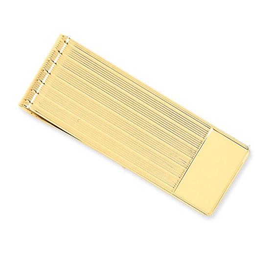 14k Solid Gold Money Clip (Multi-striped)