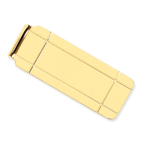 14k Solid Gold Money Clip (Window paned)