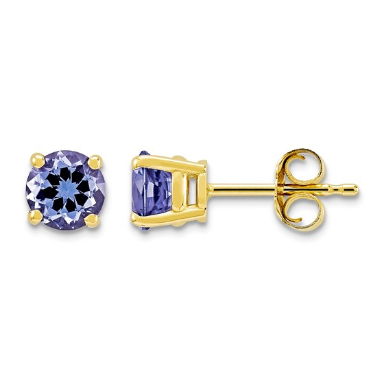 14k Tanzanite Post Earrings