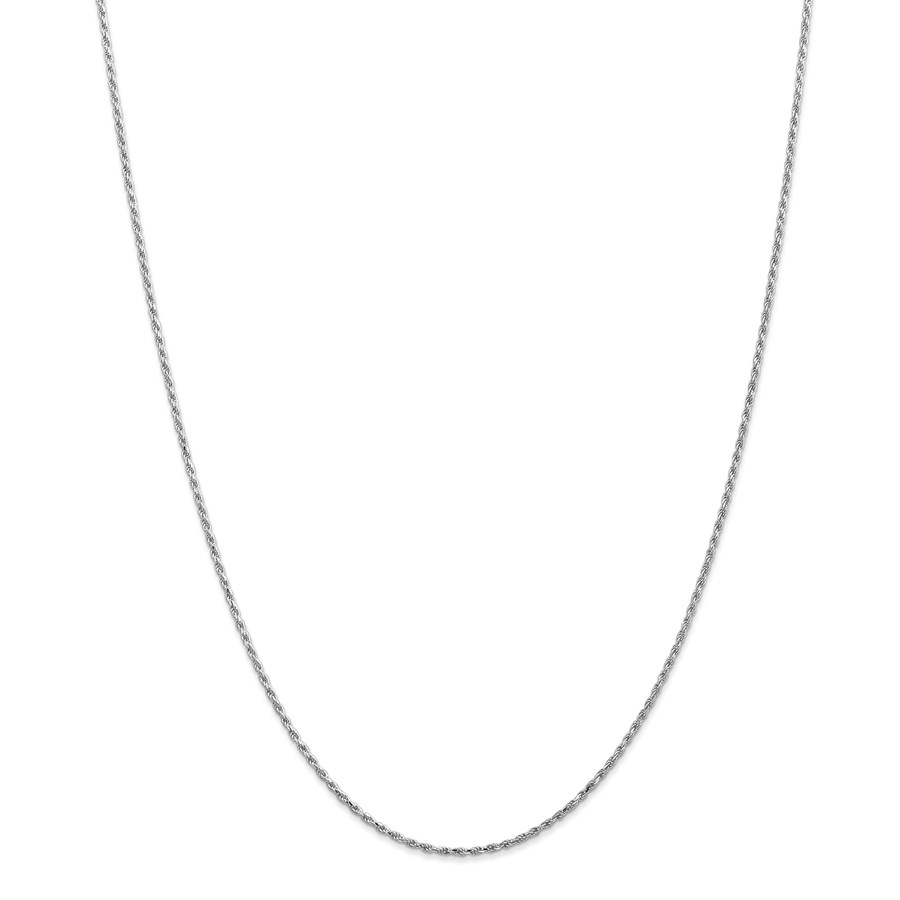 14k WG 1.30 mm Machine-made Rope Chain Necklace - 18 in.