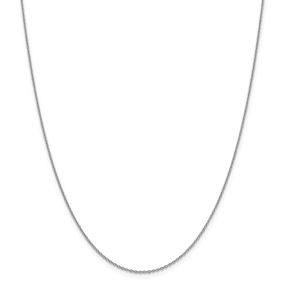14k WG 1.40 mm Solid Polished Cable Chain Necklace - 18 in.