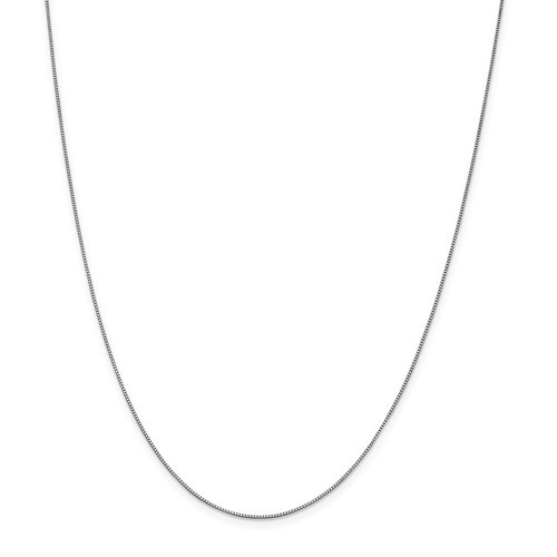 14k White Gold 0.70 mm Box Chain Necklace - 18 in.