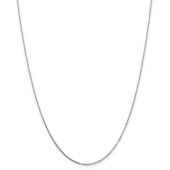 14k White Gold 0.70 mm Box Chain Necklace - 24 in.
