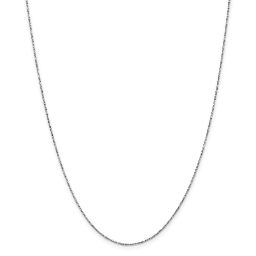 14k White Gold 0.80 mm Spiga Pendant Chain Necklace - 16 in.