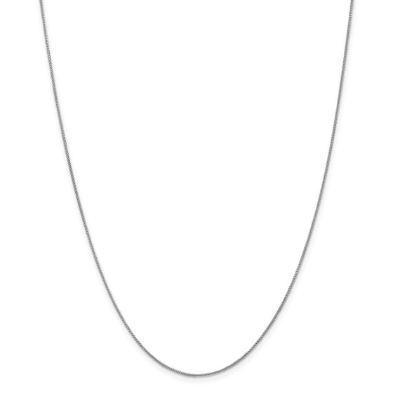 14k White Gold 0.80 mm Spiga Pendant Chain Necklace - 18 in.