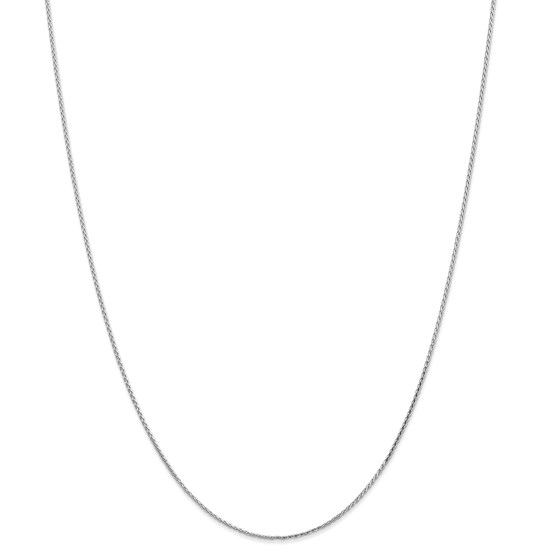 14k White Gold 1.0 mm Round Wheat Chain Necklace - 20 in.