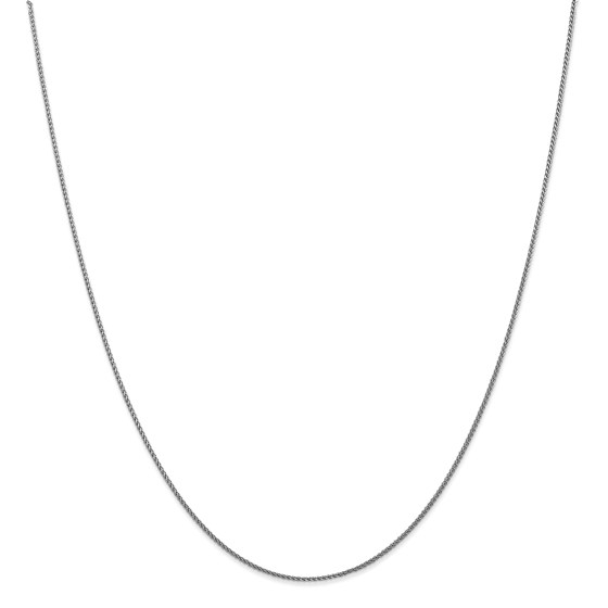 14k White Gold 1.0 mm Spiga Pendant Chain Necklace - 20 in.
