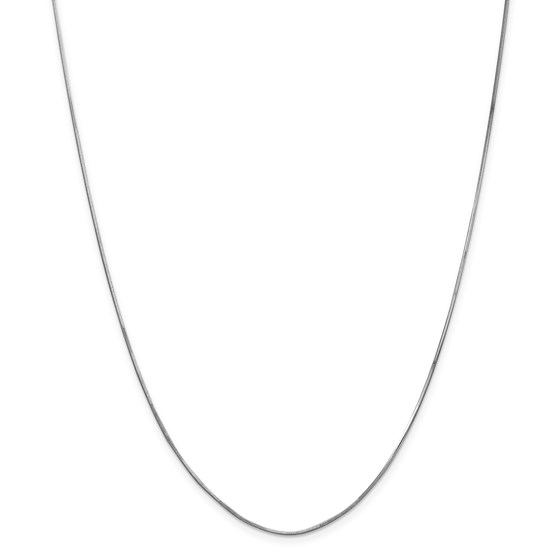 14k White Gold 1.00 mm Octagonal Snake Chain Necklace - 18 in.
