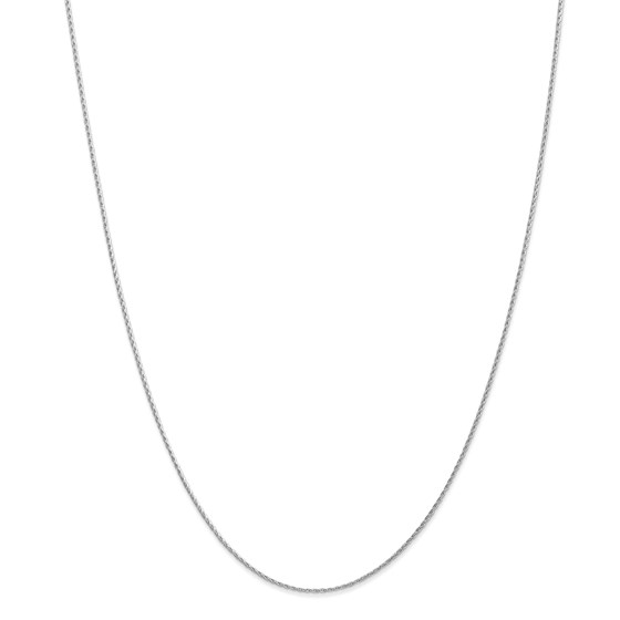 14k White Gold 1.00 mm Parisian Wheat Chain Necklace - 18 in.
