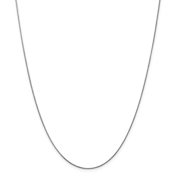 14k White Gold 1.00 mm Spiga Pendant Chain Necklace - 20 in.