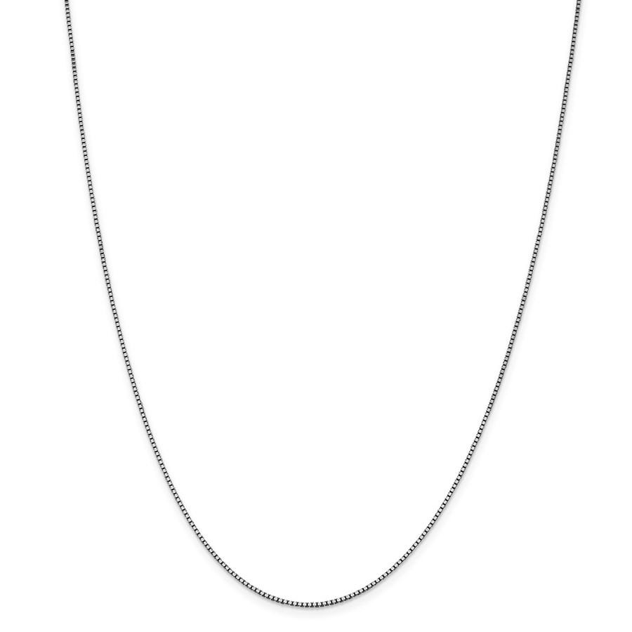 14k White Gold 1.05 mm Box Chain Necklace - 18 in.