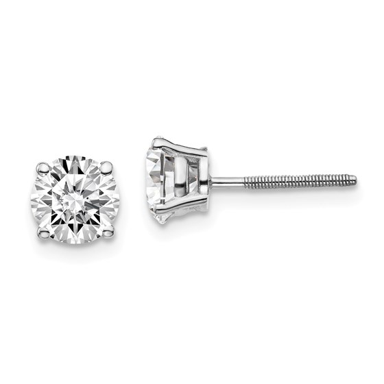 14k White Gold 1 1/2ct Lab Grown Diamond Earring