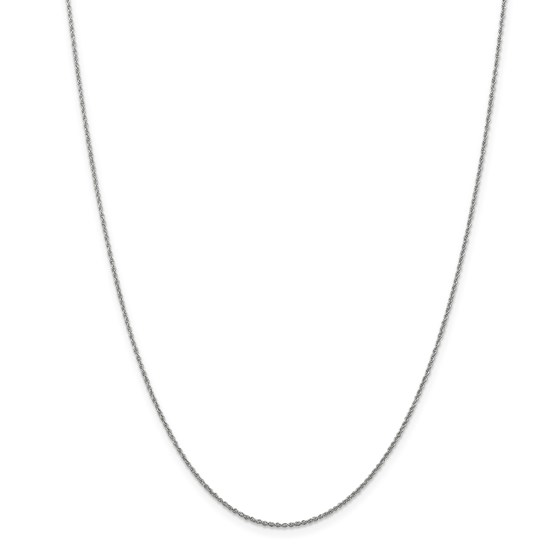 14k White Gold 1.1 mm Baby Rope Chain Necklace - 18 in.