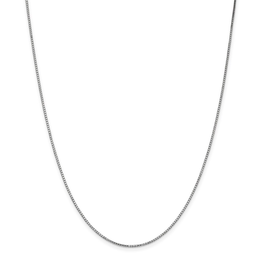 14k White Gold 1.1 mm Box Chain Necklace - 20 in.