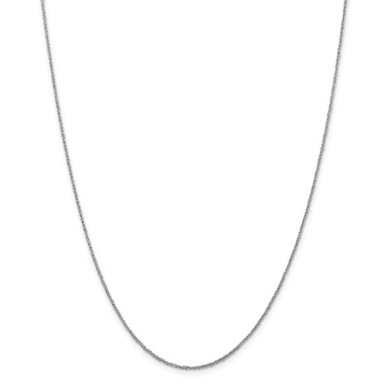 14k White Gold 1.1 mm Ropa Necklace - 16 in.