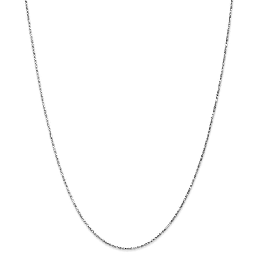 14k White Gold 1.15 mm Machine-made Rope Chain - 22 in.