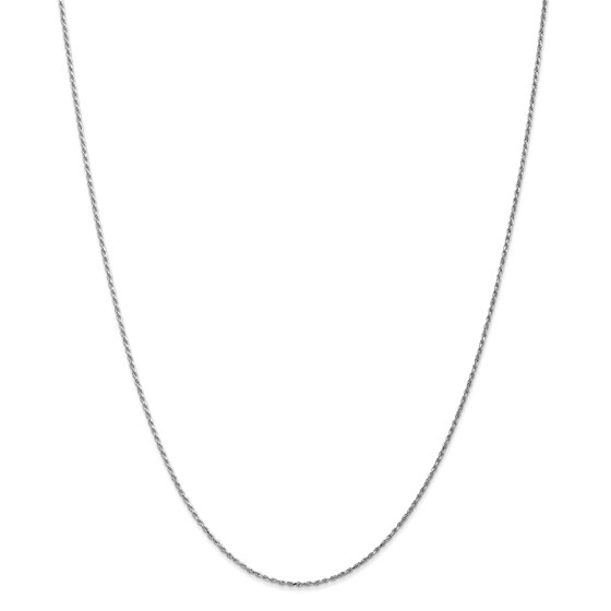 14k White Gold 1.15 mm Machine-made Rope Chain Necklace - 16 in.