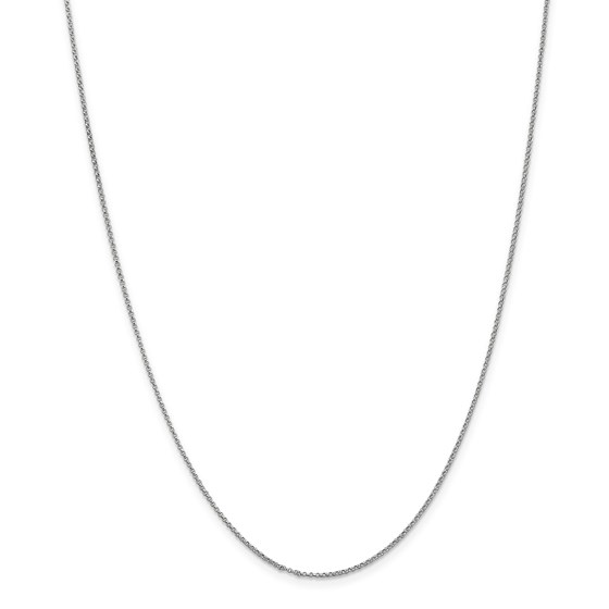 14k White Gold 1.15 mm Rolo Pendant Chain Necklace - 18 in.