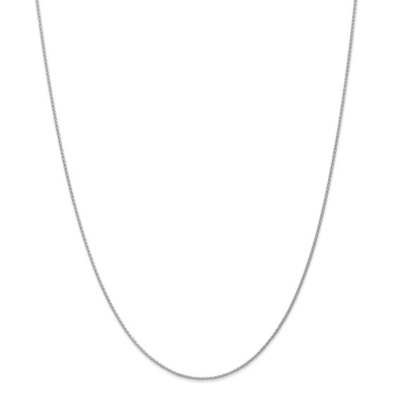14k White Gold 1.2 mm Parisian Wheat Chain Necklace - 16 in.