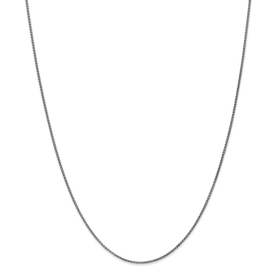 14k White Gold 1.2 mm Solid Spiga Chain Necklace - 20 in.