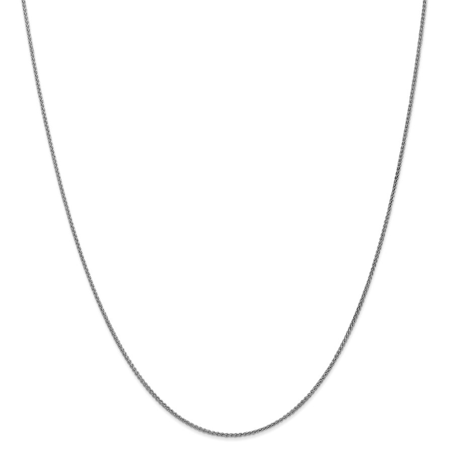 14k White Gold 1.25 mm Solid Spiga Chain Necklace - 18 in.