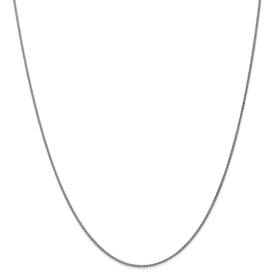 14k White Gold 1.25 mm Solid Spiga Chain Necklace - 20 in.